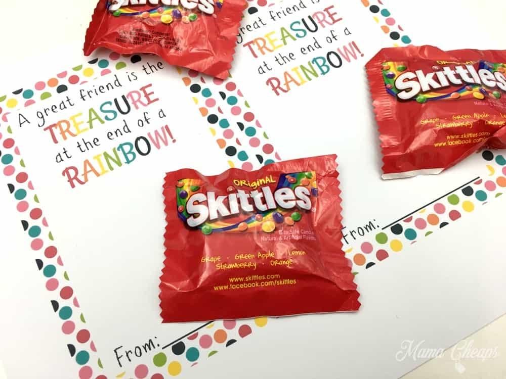 Skittles Valentine Supplies