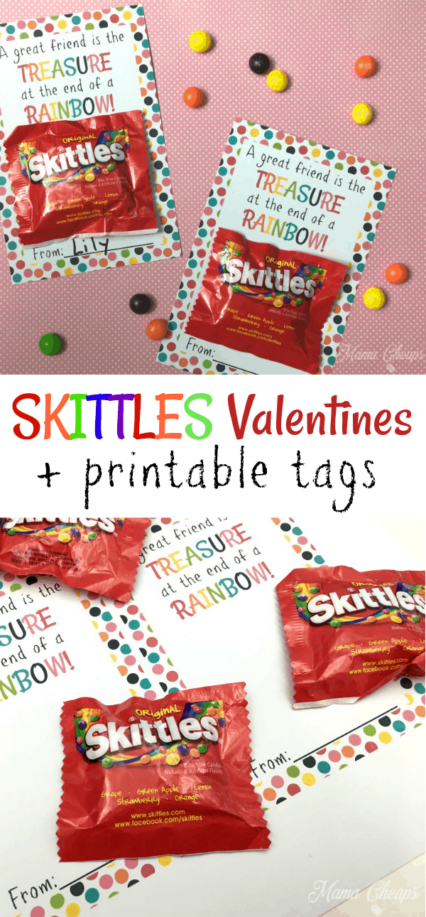 Skittles Valentines Card Printables