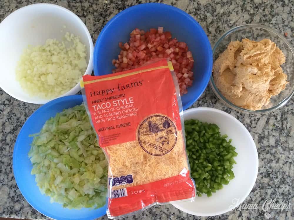 Taco Dip Ingredients