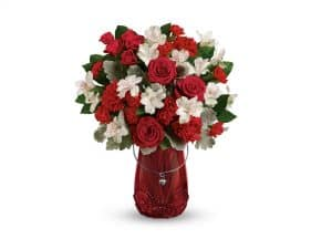Teleflora's Red Haute Bouquet