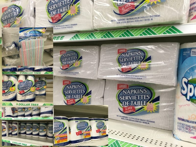 dollar store paper products