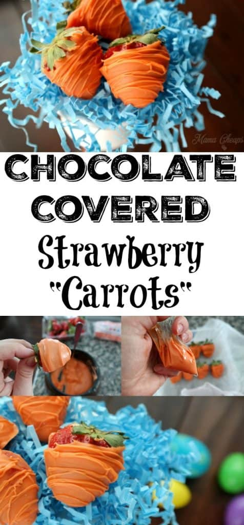 Chocolate Covered Strawberry Carrots Easter Treats