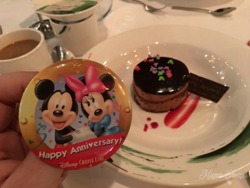 Disney Cruise Anniversary Cake