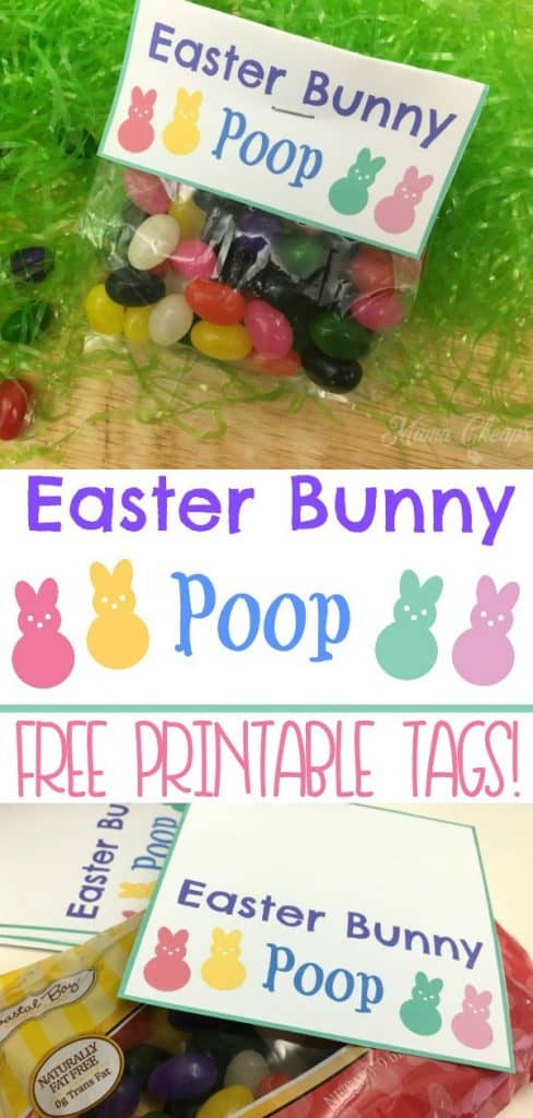 Easter Bunny Poop Jelly Beans Tags