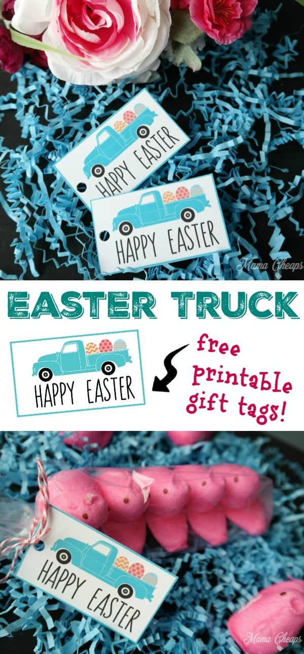 Easter Egg Truck Printable Tags