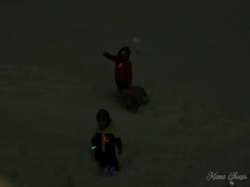 Glow Sticks Snow