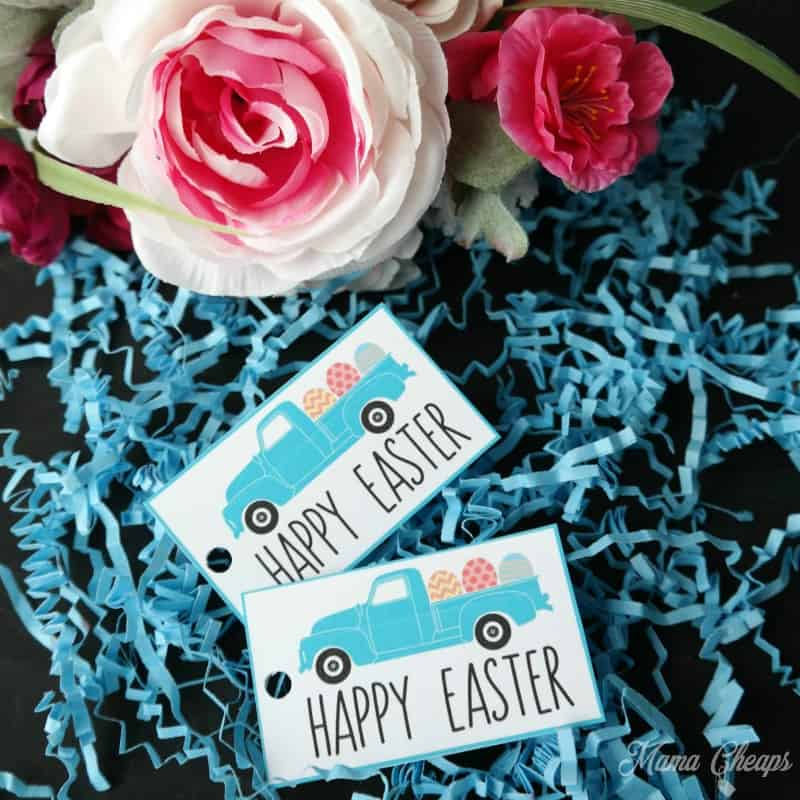 Happy Easter Truck Tags