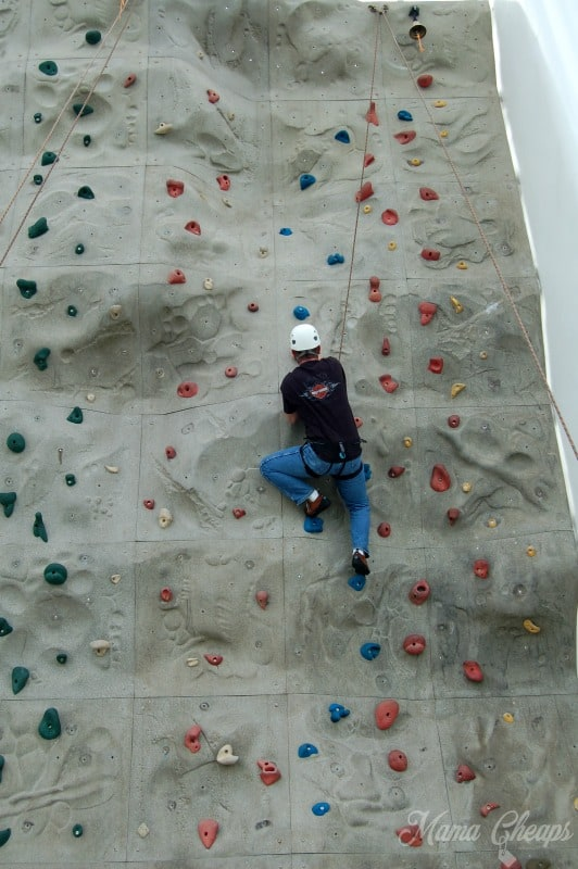 Rock Wall Climbing Royal Caribbean