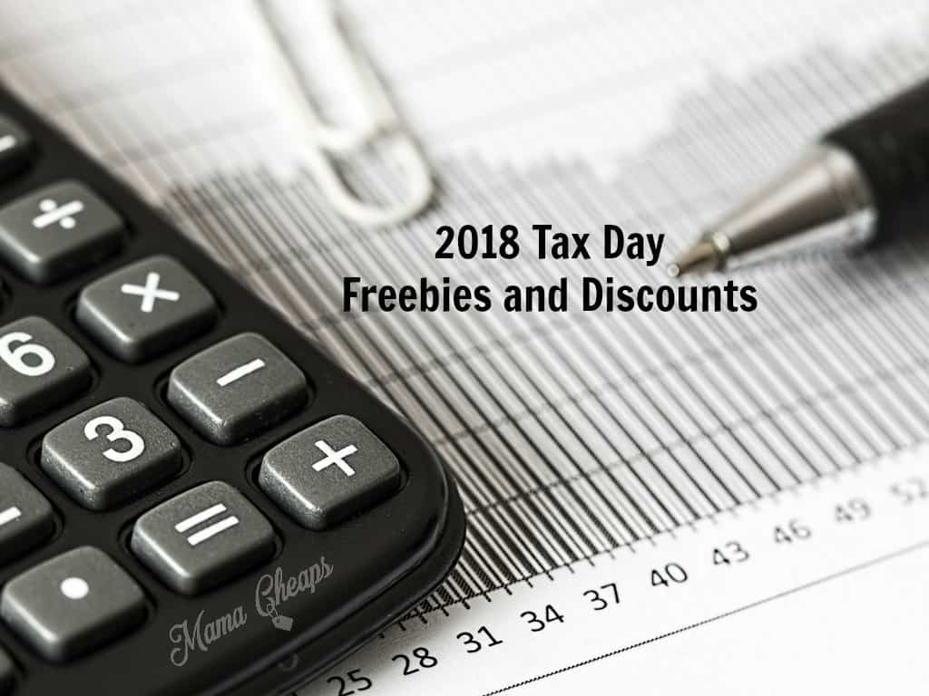 2018 Tax Day Freebies and Discounts