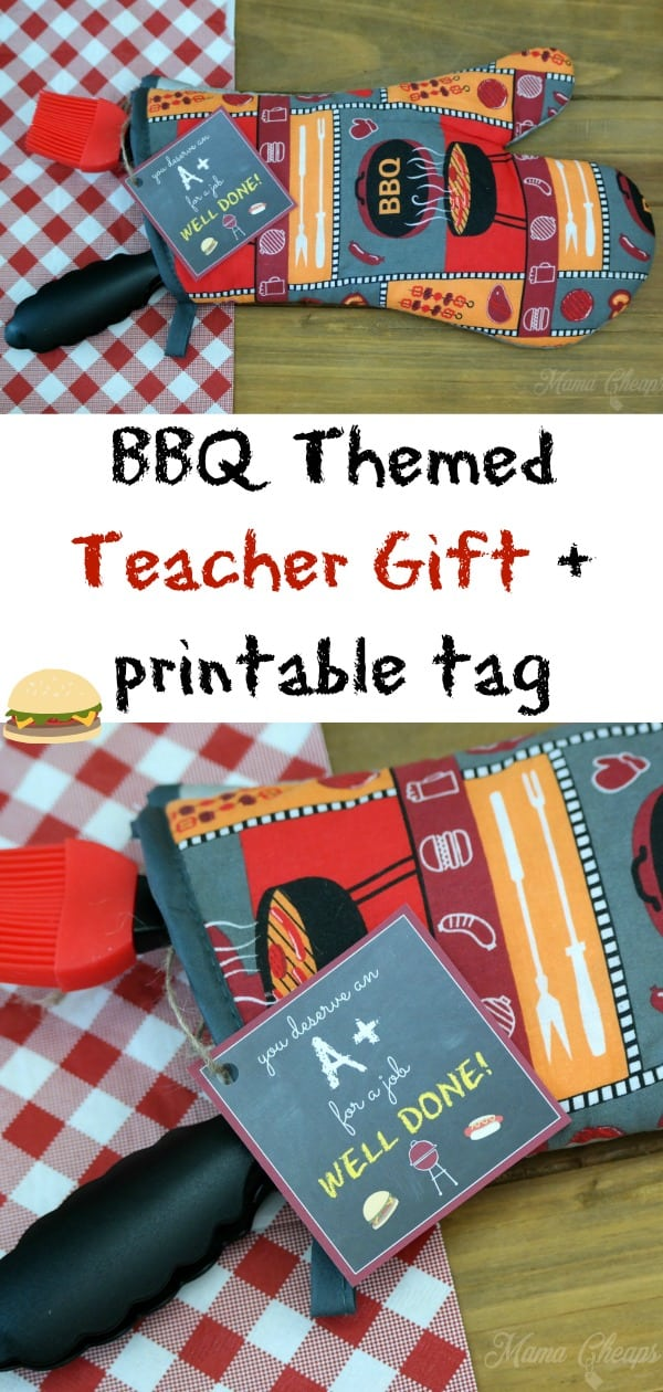 BBQ Themed Teacher Gift + printable tag