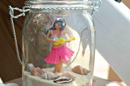 Beach jar hula girl