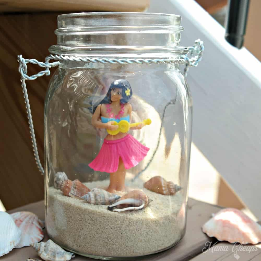 Beach jar hula girl