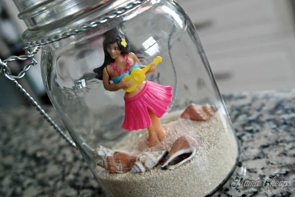 DIY Beach Jar Hula Girl