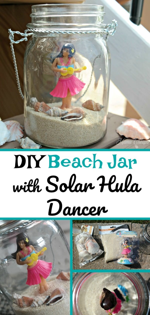 DIY Beach Jar with Solar Hula Dancer