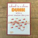 dunkin donuts teacher gift printable