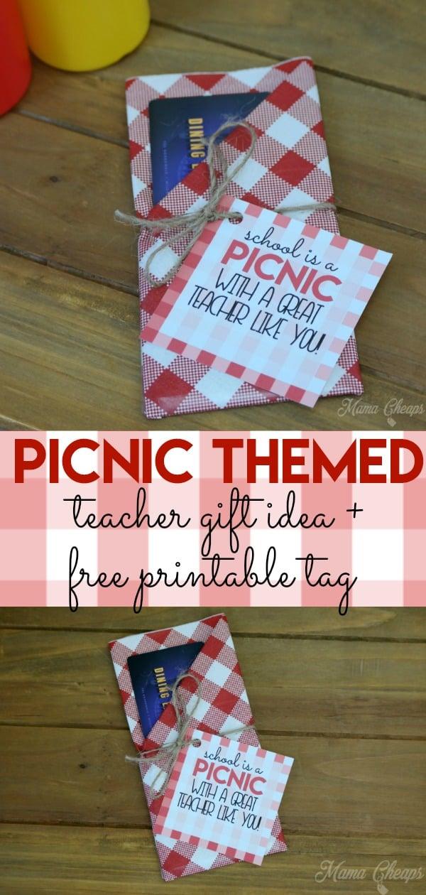 picnic teacher gift idea