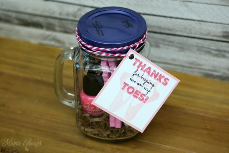 Dance Teacher Gift Pedicure in a Jar