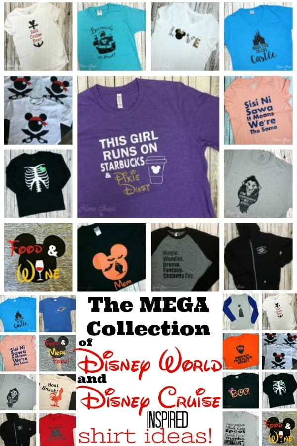 Collection of Disney World and Cruise Shirt Ideas