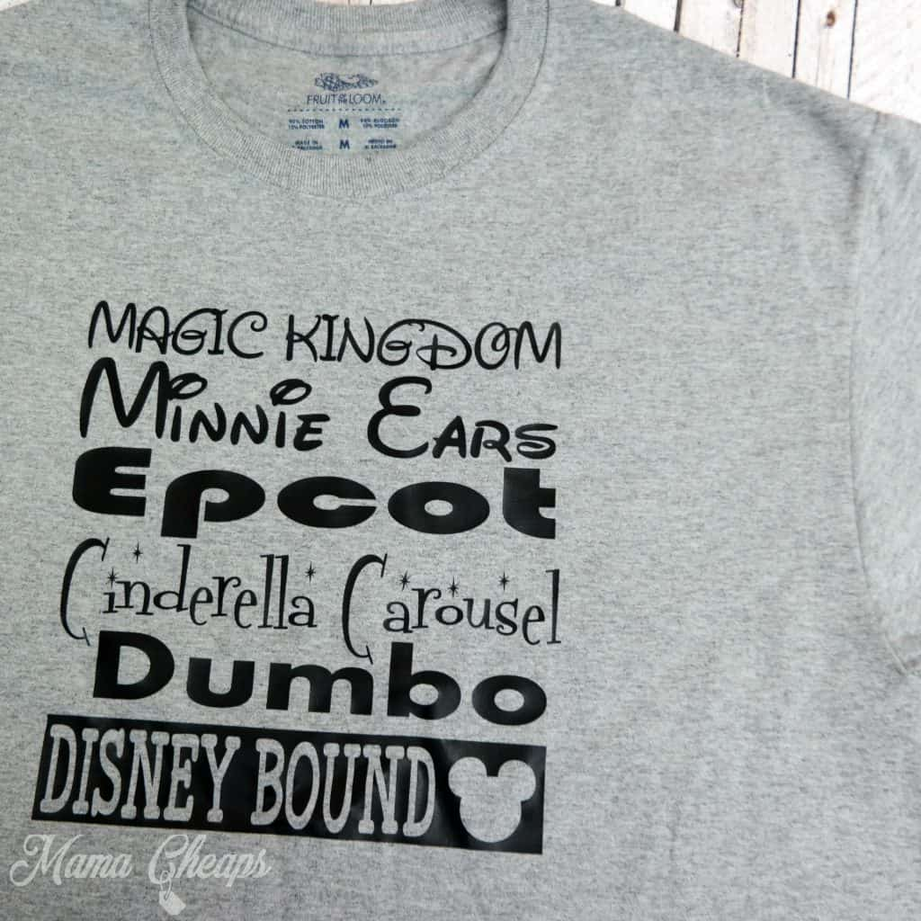 Disney List of Favorite Attractions Shirts Grey