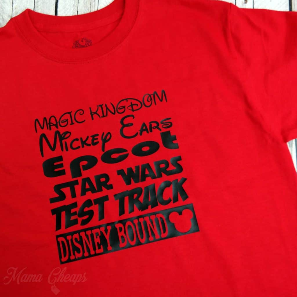 Disney List of Favorite Attractions Shirts