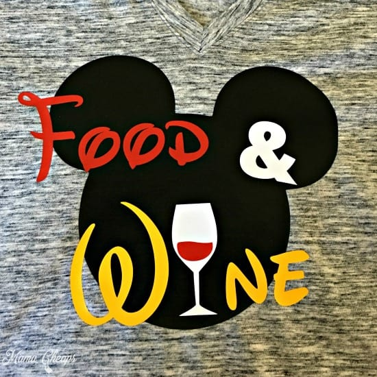 Disney Food and Wine Shirt Square
