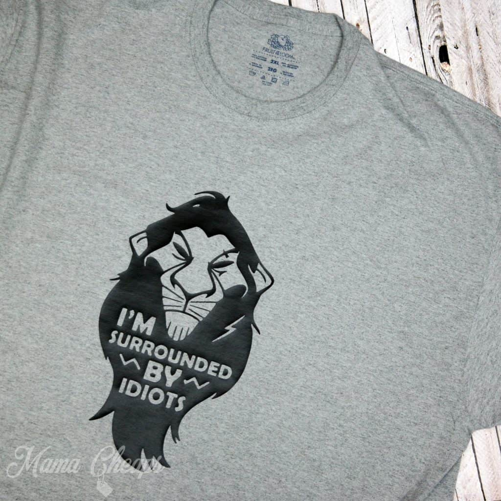 Disney Lion King Scar Surrounded By Idiots Shirt