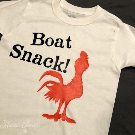 Disney Moana Boat Snack Shirt