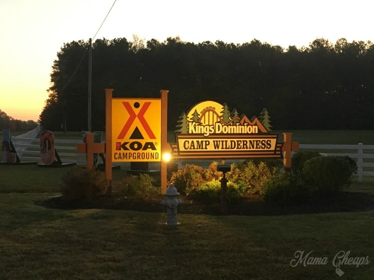 Kings Dominion Camp Wilderness KOA