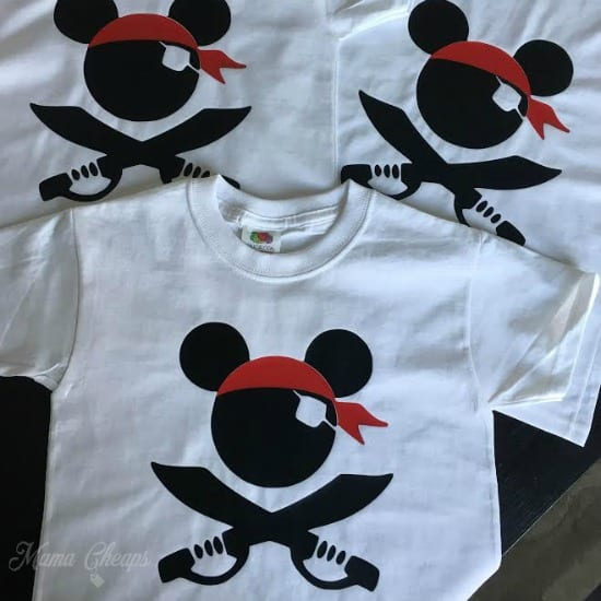 Mickey Pirate Shirts Square