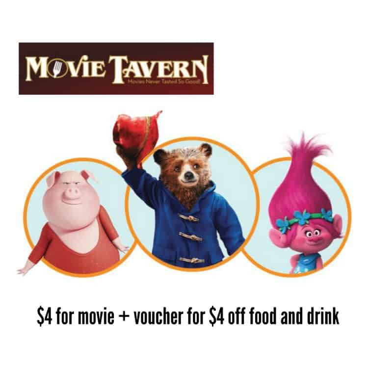 Movie Tavern Summer Flicks for Kids
