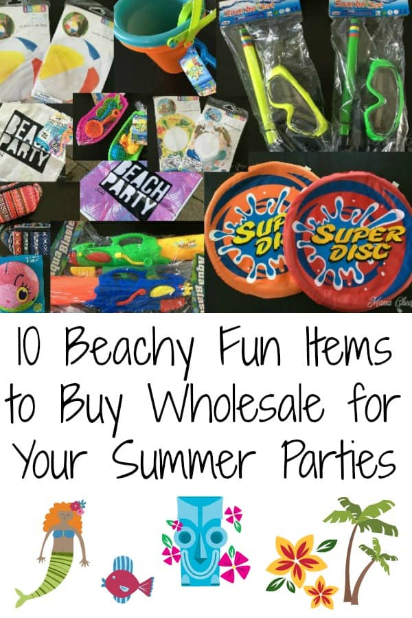 10 Beachy Fun Items to Buy Wholesale for Your Summer Parties