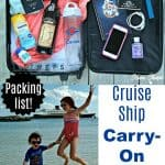 Cruise Ship Carry- On Bag Essentials Packing List