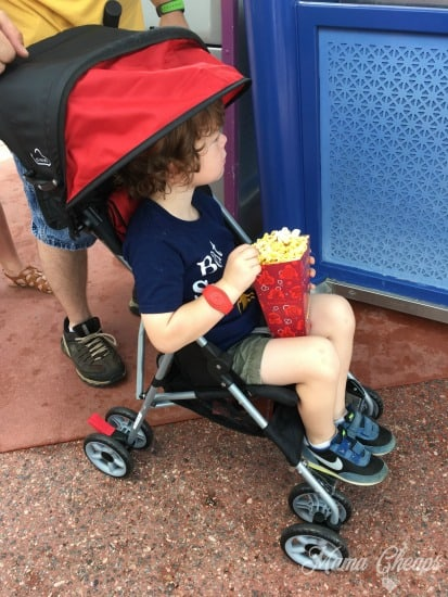 Disney Stroller Popcorn CRANKY KIDS in Disney World