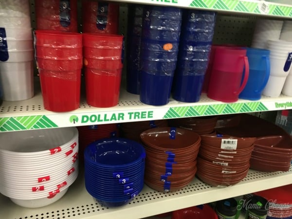 Dollar tree plates and cups