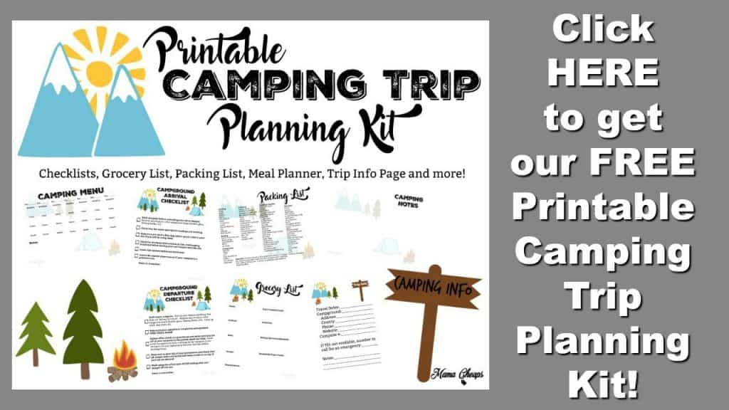 Free Camping Planner Button