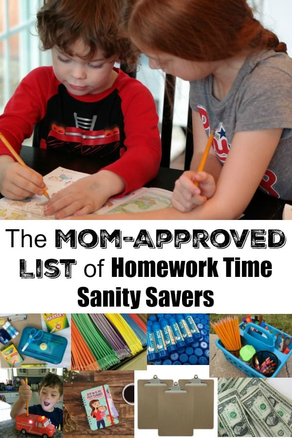 Mom-Approved List of Homework Time Sanity Savers