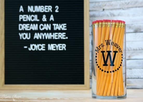 Personalized Pencil Jar