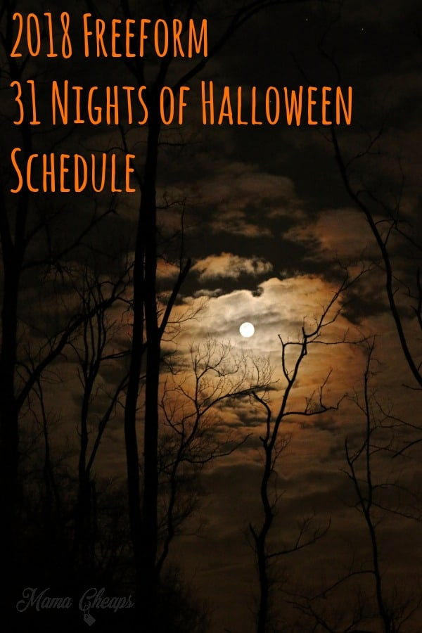 The 2018 Freeform 31 Nights of Halloween Schedule
