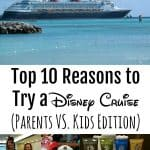 Top 10 Reasons to Try a Disney Cruise