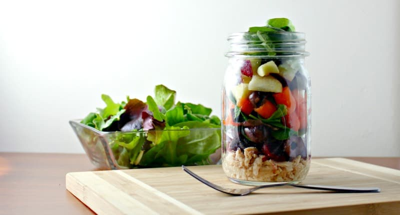 tuna mason jar salad