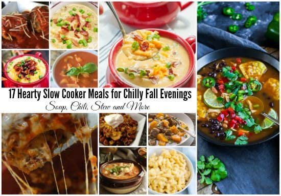 17 Hearty Slow Cooker Meals for Chilly Fall Evenings