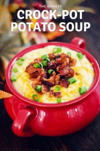 CrockPot Slow Cooker Loaded Potato Soup
