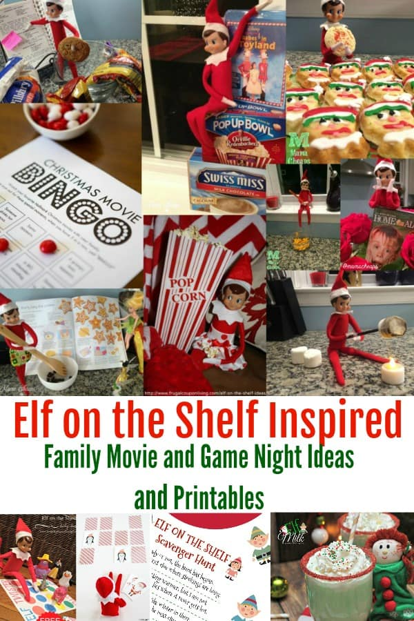 Elf on the Shelf Inspired Game and Movie Night Ideas