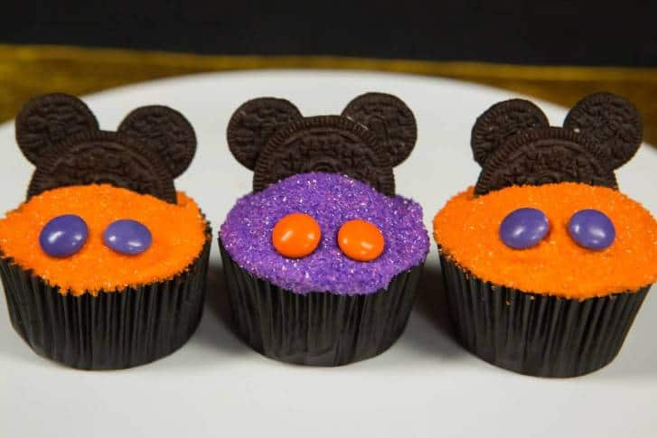 Halloween Mickey Mouse Cupcakes