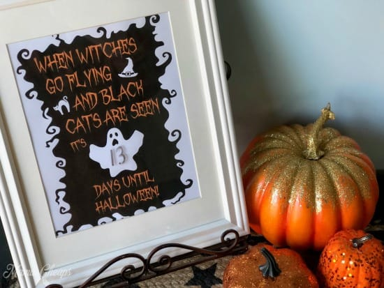 Halloween Printable Dry Erase Countdown