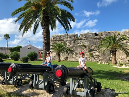 Royal Dockyard Bermuda Fort Cannons
