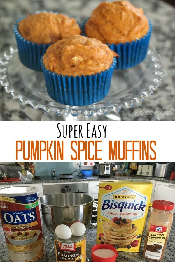 Super Easy pumpkin spice muffins