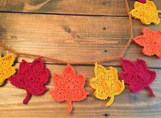 fall leaves crochet garland