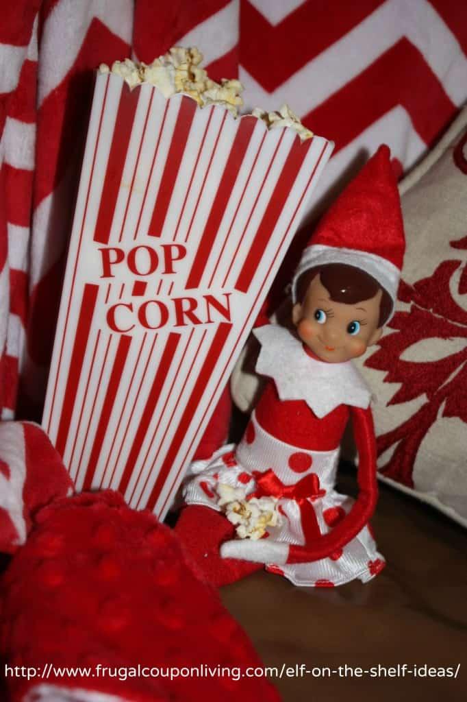 elf eats popcorn