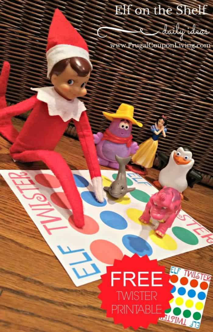 elf twister game